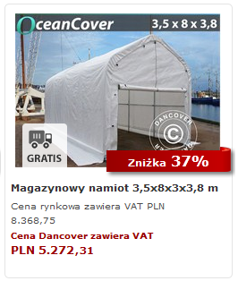 Magazynowy namiot OceanCover
