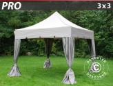 Namiot ekspresowy FleXtents z piękną, ząbkowaną falbaną