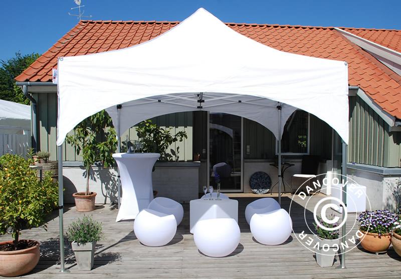 Namiot ekspresowy FleXtents z ekskluzywnym, łukowym dachem